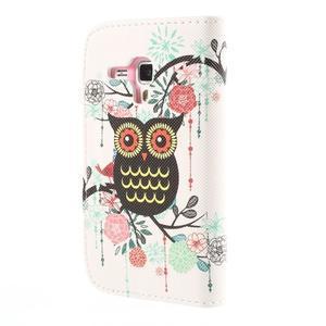 Peňaženkové puzdro pre Samsung Galaxy S Duos / Trend Plus -  sova - 3