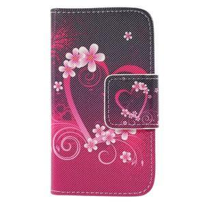 Peňaženkové puzdro pre Samsung Galaxy S Duos / Trend Plus -  srdce - 3