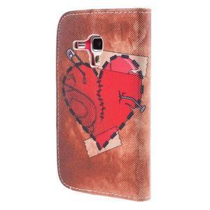Peňaženkové puzdro pre Samsung Galaxy S Duos / Trend Plus - zlomené srdce - 3