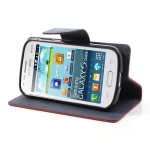Diary puzdro pre mobil Samsung Galaxy S Duos / Trend Plus -  červené - 3
