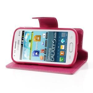 Diary puzdro na mobil Samsung Galaxy S Duos / Trend Plus - růžové - 3