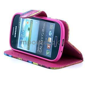 Peňaženkové puzdro na Samsung Galaxy S3 mini - farby dreva - 3