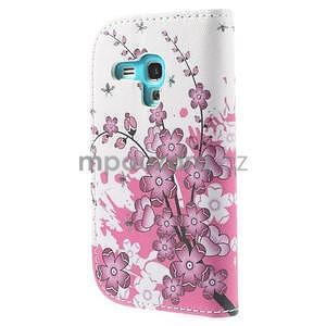 Puzdro na mobil Samsung Galaxy S3 mini - kvitnúca vetvička - 3