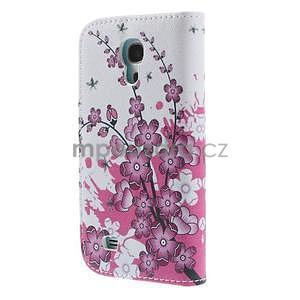 Peňaženkové puzdro pre Samsung Galaxy S4 mini - kvetúca vetvička - 3