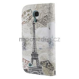 Peňaženkové puzdro pre Samsung Galaxy S4 mini - Eiffelova veža - 3
