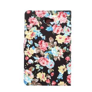 Květinové puzdro na tablet Samsung Galaxy Tab A 10.1 (2016) - čierné - 3