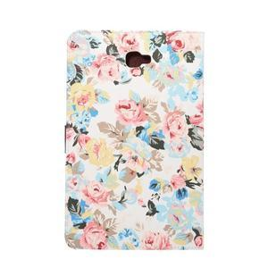 Květinové puzdro na tablet Samsung Galaxy Tab A 10.1 (2016) - bielé - 3