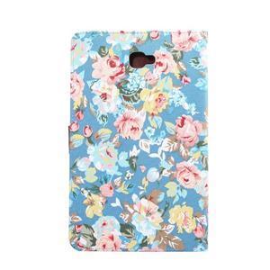Kvetinové puzdro pre tablet Samsung Galaxy Tab A 10.1 (2016) - modré - 3