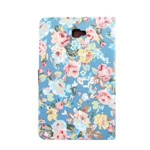 Květinové puzdro na tablet Samsung Galaxy Tab A 10.1 (2016) - modré - 3