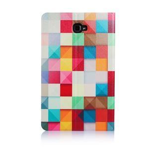 Picture polohovatelné puzdro na Samsung Galaxy Tab A 10.1 (2016) - čtverečky - 3