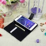 Peňaženkové puzdro pre mobil Sony Xperia M2 - modrý motýľ - 3/5