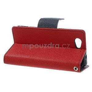 Fancy peňaženkové puzdro na Sony Xperia Z1 Compact - červené - 3
