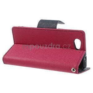 Fancy peňaženkové puzdro pre Sony Xperia Z1 Compact - rose - 3