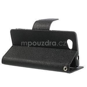 Fancy peňaženkové puzdro na Sony Xperia Z1 Compact - čierne - 3