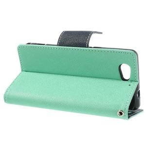 Fancy peňaženkové puzdro na Sony Xperia Z1 Compact - azúrové - 3