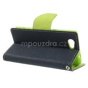 Fancy peňaženkové puzdro pre Sony Xperia Z1 Compact - tmavomodré - 3