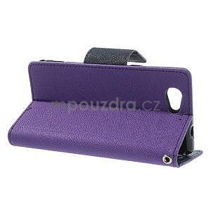 Fancy peňaženkové puzdro na Sony Xperia Z1 Compact - fialové - 3