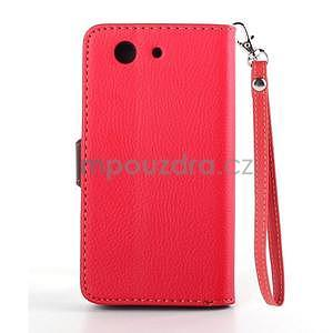Leaf peněženkové pouzdro na Sony Xperia Z3 Compact - červené - 3
