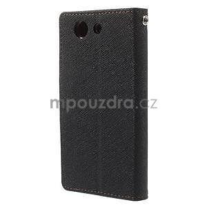 Diary Peňaženkové puzdro pre mobil Sony Xperia Z3 Compact - čierne/hnedé - 3