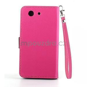 Leaf peněženkové pouzdro na Sony Xperia Z3 Compact - rose - 3