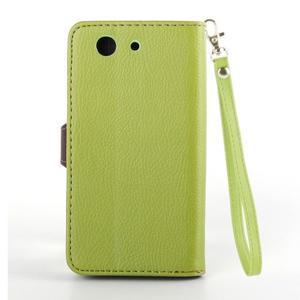 Leaf Peňaženkové puzdro pre Sony Xperia Z3 Compact - zelené - 3