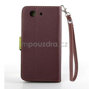 Leaf peněženkové pouzdro na Sony Xperia Z3 Compact - hnědé - 3