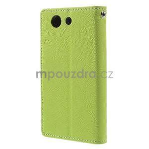 Diary peněženkové pouzdro na mobil Sony Xperia Z3 Compact - zelené - 3