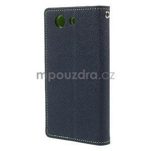 Diary peněženkové pouzdro na mobil Sony Xperia Z3 Compact - tmavěmodré - 3