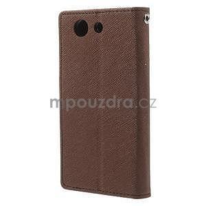 Diary Peňaženkové puzdro pre mobil Sony Xperia Z3 Compact - hnedé - 3