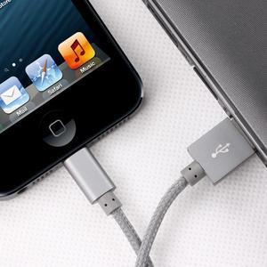 MFi prepojovací/nabíjecí kabel pre zařízení APPLE (8 pin, 1m) -  biely - 3