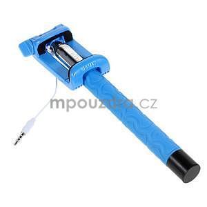 Selfie tyč s automatickým spínačom na rukojeti - svetlo modrá - 3