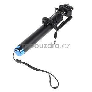 GX automatická selfie tyč so spínačom - modrá - 3