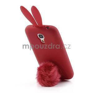 Silikonový obal na Samsung Galaxy S4 mini - červený králík - 3