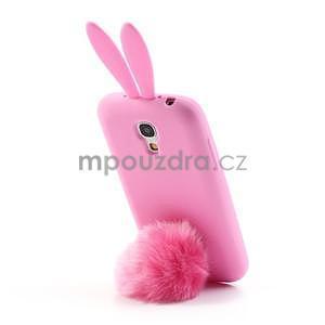 Silikonový obal na Samsung Galaxy S4 mini - růžový králík - 3