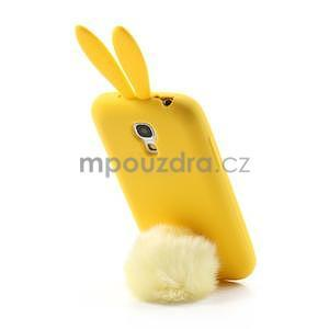 Silikonový obal na Samsung Galaxy S4 mini - žltý králík - 3