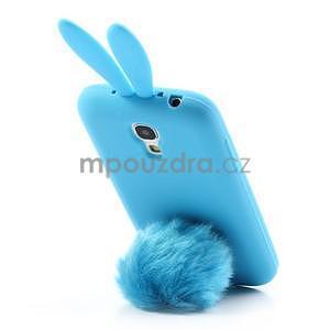 Silikonový obal na Samsung Galaxy S4 mini - modrý králík - 3