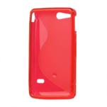 Gélové S-line puzdro na Sony Xperia Go- červené - 3/3