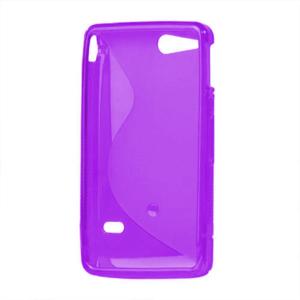 Gélové S-line puzdro na Sony Xperia Go- fialové - 3