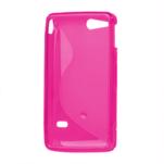Gélové S-line puzdro na Sony Xperia Go- růžové - 3/3
