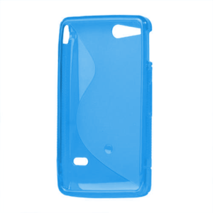 Gélové S-line puzdro na Sony Xperia Go- modré - 3