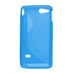 Gélové S-line puzdro na Sony Xperia Go- modré - 3/3