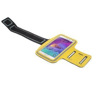 Gym bežecké puzdro na mobil do rozmerov 153.5 x 78.6 x 8.5 mm - žlté - 3
