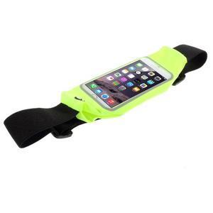 Športové kapsička pres pas na mobily do rozmerov 149 x 75 mm - zelené - 3