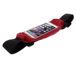 Športové kapsička pres pas na mobily do rozmerov 149 x 75 mm - červené - 3