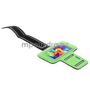 Run bežecké puzdro na mobil do veľkosti 131 x 65 mm -  zelené - 3