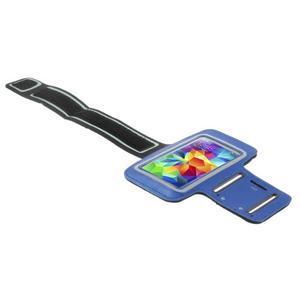 Run bežecké puzdro na mobil do veľkosti 131 x 65 mm - modré - 3