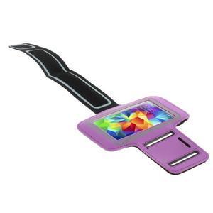 Run bežecké puzdro na mobil do veľkosti 131 x 65 mm - fialové - 3
