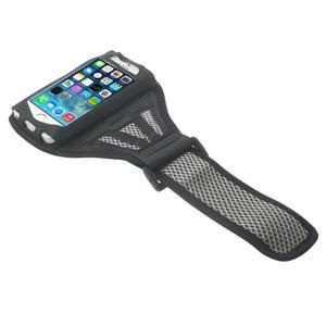 Absorb športové puzdro na telefón do veľkosti 125 x 60 mm - šedé - 3