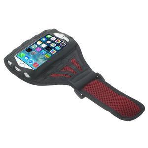 Absorb športové puzdro na telefón do veľkosti 125 x 60 mm -  červené - 3