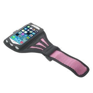 Absorb športové puzdro na telefón do veľkosti 125 x 60 mm - ružové - 3